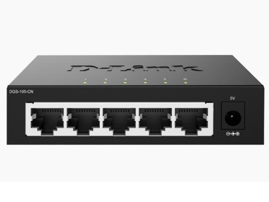 D-LINK DGS-105-CN 5口千兆非网管交换机 所有端口无论用直通线还是交叉线都可以自适应,以实现网络的即插即