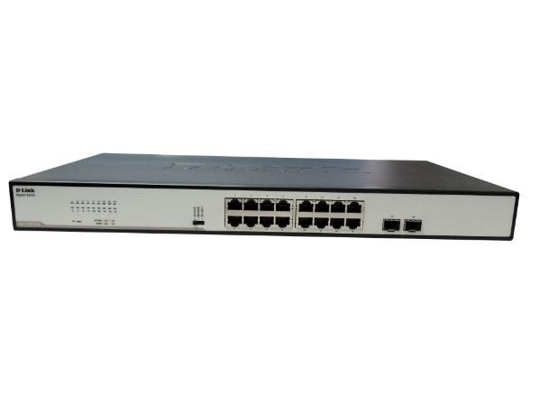 D-LINK DGS-1018TS-CN 18口千兆非网管交换机 16个千兆电口+2个千兆光口,机架式非网管交换机,拥有三档开关功能。
