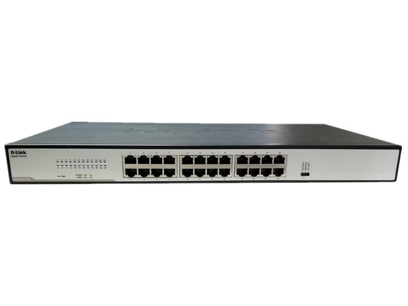 D-LINK DGS-1024T-CN 24口千兆非网管交换机 24个千兆电口,标准机架式交换机,拥有三档开关