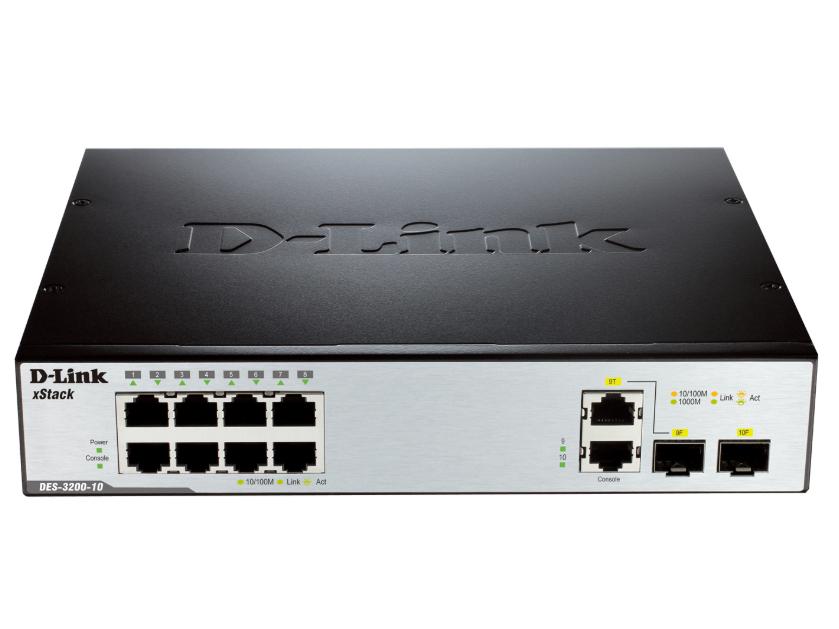 D-LINK DES-3200系列百兆网管交换机 可以提供 8/16/24, 或 48个10/100 Mbps连接