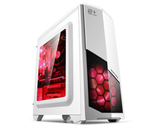 金河田电脑机箱N6台式主机箱水冷游戏侧透matx迷你个性机箱usb3.0