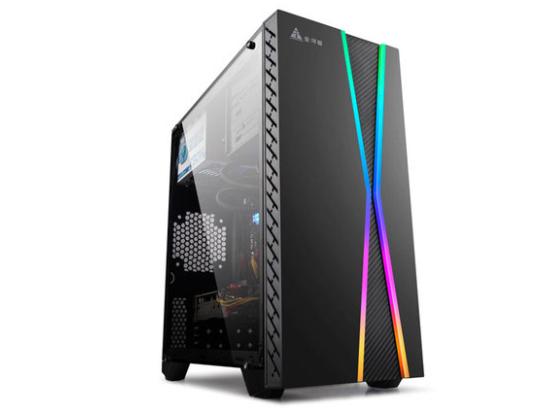 金河田预见M8电脑机箱台式机LED灯效透明组装全透matx迷你小机箱