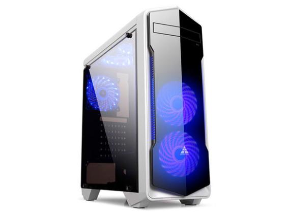 金河田预见N13电脑机箱台式主机组装背线全侧透明水冷游戏atx机箱