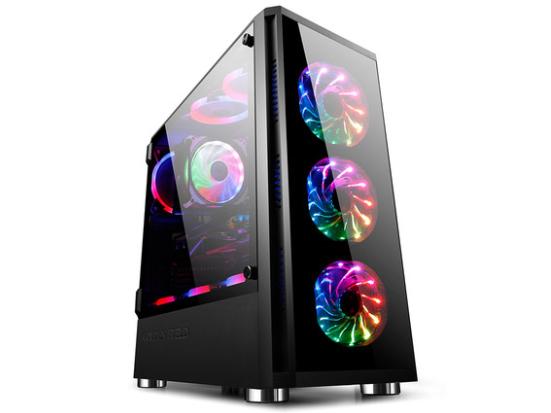 金河田Z20机箱电脑台式钢化玻璃水冷机箱背线DIY游戏机箱atx机箱