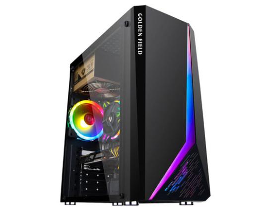 金河田炫豪8电脑机箱台式主机diy全侧透RGB游戏水冷
