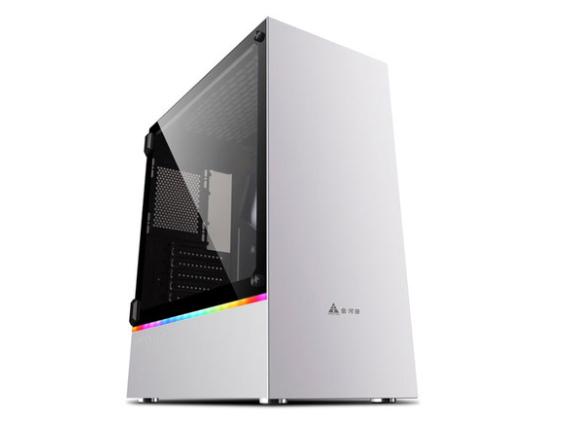 金河田峥嵘23电脑机箱台式机钢化玻璃面板usb3.0水冷背线DIY机箱