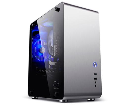 金河田Mate3电脑机箱台式主机全铝游戏水冷侧透迷你机箱