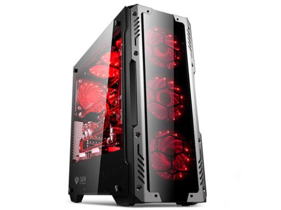 金河田峥嵘Z2台式机电脑游戏水冷主机箱玻璃面板大侧透atx大机箱