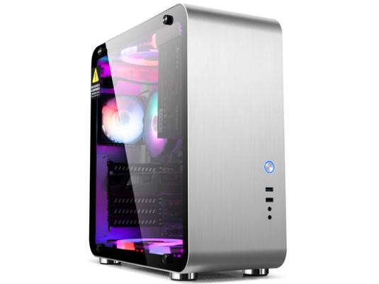 金河田mate4电脑机箱台式主机箱全铝usb3.0钢化玻璃透明atx大机箱