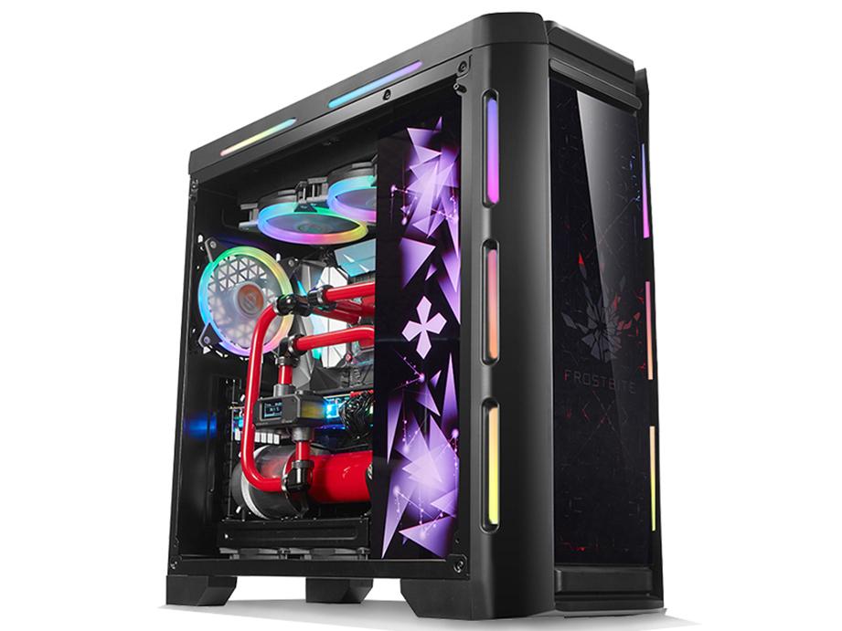金河田峥嵘z30水冷机箱电脑台式机usb3.0钢化玻璃侧透游戏atx机箱