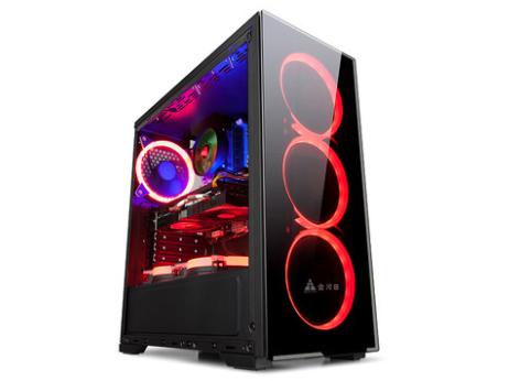金河田N17水冷机箱套装台式主机atx空箱个性游戏大侧透明电脑机箱