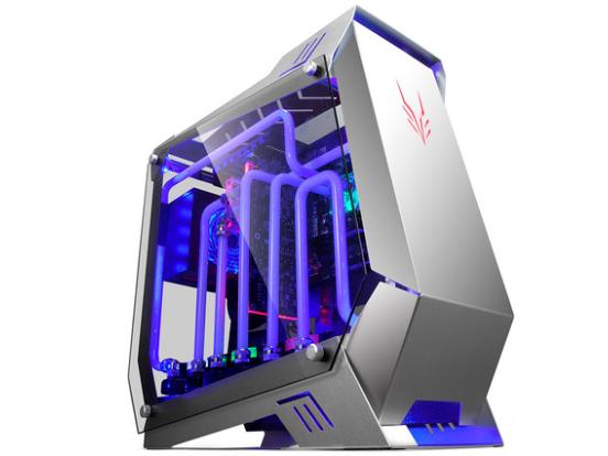 金河田银狐水冷铝箱玻璃大侧透台式机电脑主机机箱游戏机箱