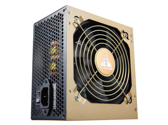 金河田电脑电源台式主机金牌认证背线静音电源700w峰值800w