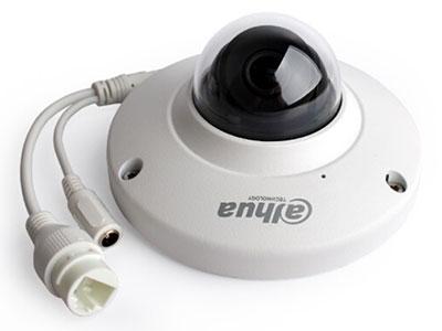 大华  200万H.265防暴POE电梯半球网络摄像头 带录音 支持插卡存储 DH-IPC-HDB4233C-SA