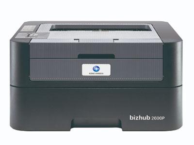 美能达 bizhub 2600P 黑白激光打印机 多效全能:高清彩色扫描*、自动双面、自动输稿器*、有线网络* 人性设计:LED液晶显示屏*、大容量纸盒、鼓粉分离、身份证一键式多份复印*、直通式纸道