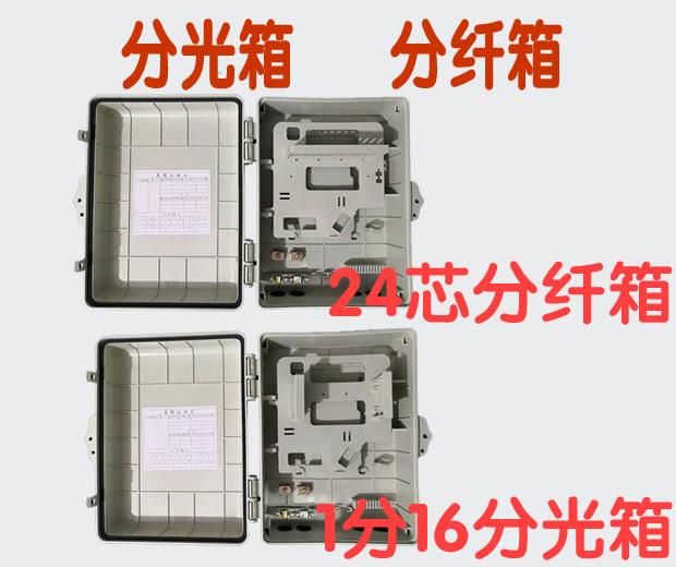 24芯 1分16 1分32 插卡式分纖箱1分4  1分8  1分16 尾纖式分光器