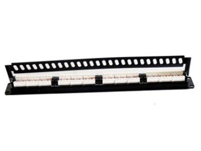 网络配线架 CAT5E24口超五类非屏蔽配线架插座