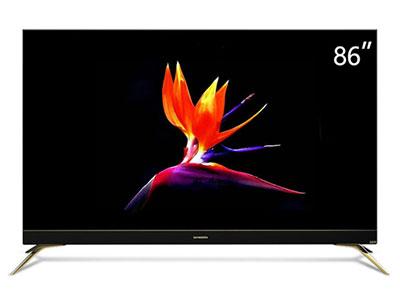 創維  86F7 薄電視86英寸 4K高清HDR全面屏杜比視聽 金屬窄邊框 AI人工智能語音液晶電視機