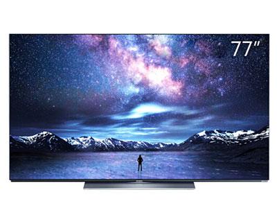 創維  77S81 77英寸 4K薄高清 護眼全面屏 人工智能語音網絡OLED液晶電視機