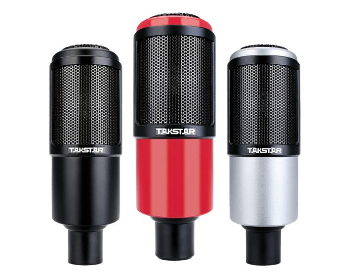 得胜  PC-K320 专业电容麦克风电脑网络K歌录音主播直播话筒 红色/银色/黑色
