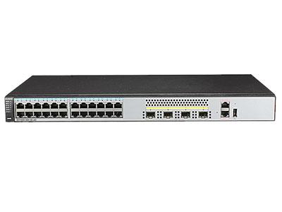 """華為 S5720S-28X-SI-AC  交換機 """"交換容量≥336Gbps,包轉發率≥108Mpps 24個10/100/1000Base-T以太網端口,4個千兆SFP  支持RIP、RIPng、OSPF、OSPFv3、ISIS、BGP等路由協議; 支持對端口接收報文速率和發送報文速率進行限制,支持SP、WRR、SP+WRR等隊列調度算法;"""""""