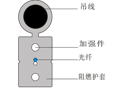 天津立孚 自承式蝶形光缆(俗称皮线光缆)