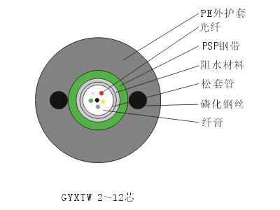 天津立孚标准中心束管式轻铠光缆(GYXTW)