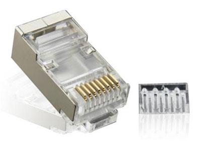 天津立孚  超5类屏蔽RJ45水晶头