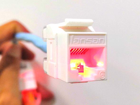 LANSAN萊訊一秒尋線非屏蔽信息模塊