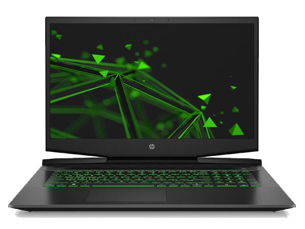 惠普 17-CD0008TX 黑色 笔记本 I7-9750 8G 512G+1T 1660TI 6G 144HZ 17.3 润眼绿光