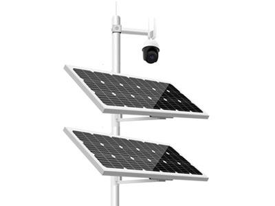太阳能电池板高转换率单晶硅18V 200W,系统供电主能源  尺寸1200*540*30 双太阳能板供电 锂电池12V120AH三元锂电池, 电源控制系统PMW 智能可编程 充放电电流:100A 12V 防过冲,防过放,集成电池安装 铝合金电池盒防腐,防水 12V稳压器12V稳压器(含24V3A逆变器) 太阳能安装支架抱杆安装,抱箍规格:76/90/110/140/160 等
