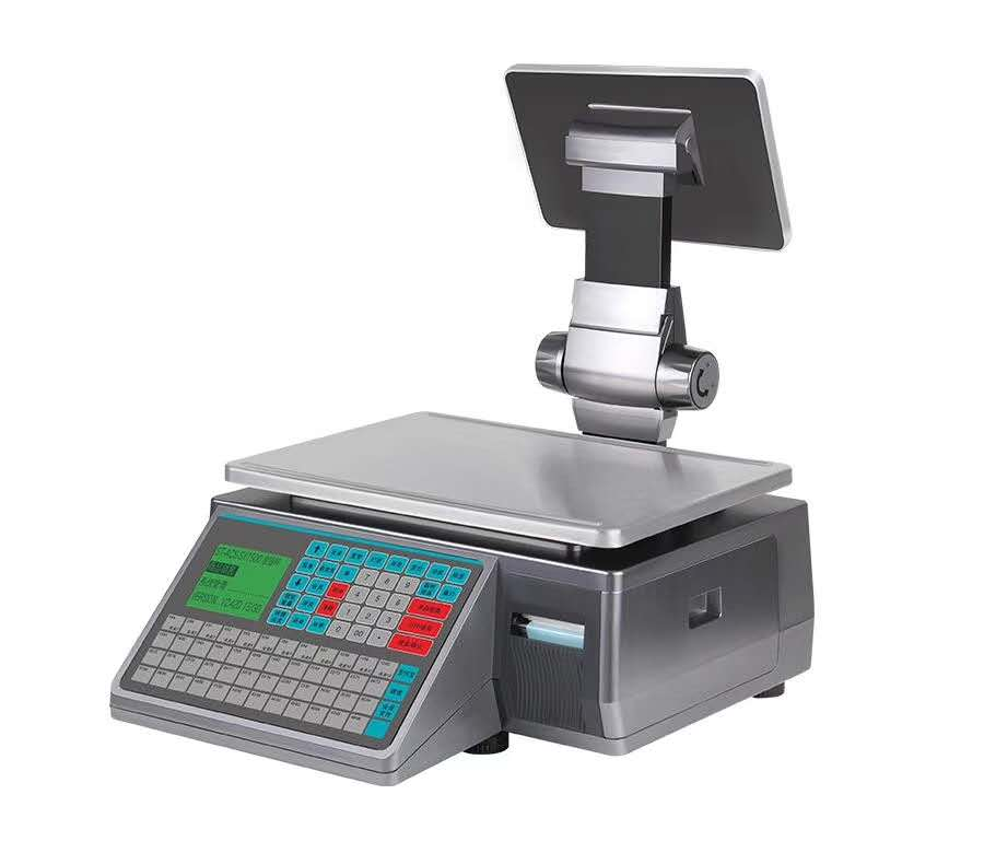 浦利路SY-15收银秤 双打印模块打印标签、小票,进销存、秤重、会员管理等功能,适合熟食店、水果店、零食店等既要秤重又要销售商品的店面