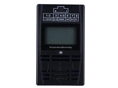 信锐  机架式温湿度传感器 1、支持RS485方式通讯,标准MOD BUS通信协议;2、双RJ45设计,支持RJ45供电,大大简化系统布线;3、支持当前环境温度采集,采集范围-10℃~70℃,采集精度±0.3℃;4、支持当前环境湿度采集,采集范围5\%~95\%RH,采集精度±3\%RH;