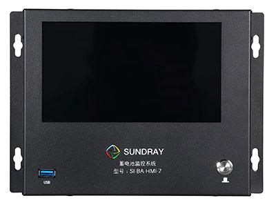 信锐  蓄电池监测系统 1、支持单体电池监测,可监测单节电池电压、温度、剩余容量、单体SOC等;2、支持组端电池监测,可监测组端状态、电压、电流、容量、组端SOC等;3、支持超大彩色触摸屏统一展示,所有蓄电池状况一目了然;4、支持通过串口服务器接入机房动环监测系统,与其他子系统实现联动;