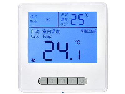信锐  智能空调面板 1、支持LPWAN(低功耗广域网络),LoRa通信协议;2、支持定时开启、关闭空调,支持根据环境温度变化开启、关闭空调;3、支持根据环境温度和设定温度自动调节风速,保持室内温度恒定;4、支持物联网策略联动,实现定时开关、联动温控、智能模式控制等;