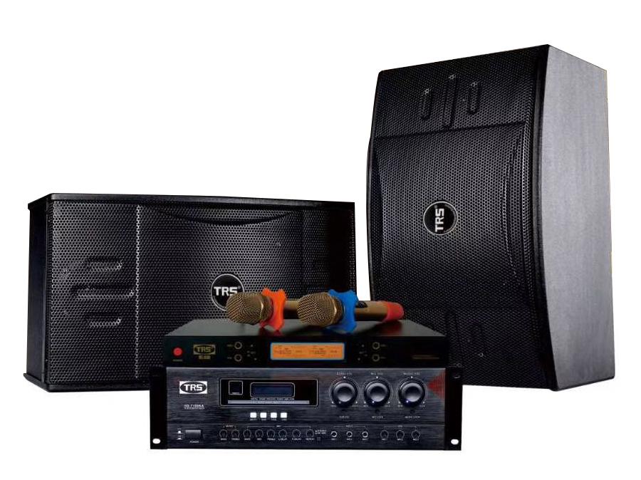 TRS 家庭卡拉OK演唱系统A套餐(适用于15 :25m2) 二音路三单元十寸卡包音箱 大功率纯后级放大器