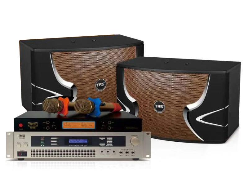 TRS 家庭卡拉OK演唱系统B套餐(适用于20-30m2) 十寸三分频五单元卡包音箱  专业数码卡拉OK放大器