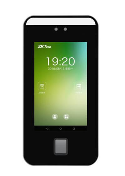郑州餐厅ZK-S1007定制版人脸识别消费机壁挂式彩屏人脸消费机,7寸屏,在线充值,支持手机APP查询
