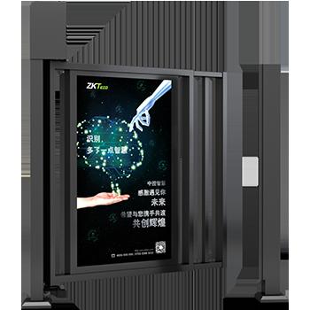 郑州小区广告门安装   小区门禁系统 带广告位中控智慧AD1000广告门 支持人脸识别  刷卡识别