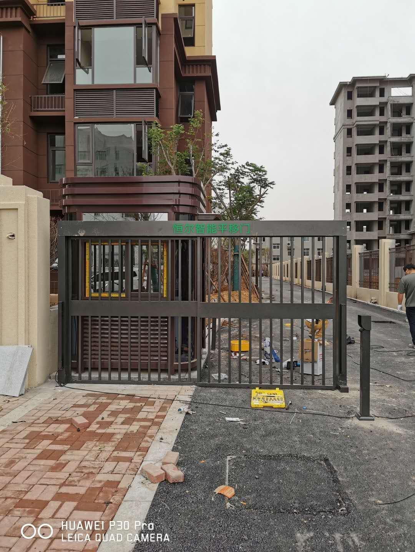 郑州小区栅栏平移门  电动门安装支持定制功能