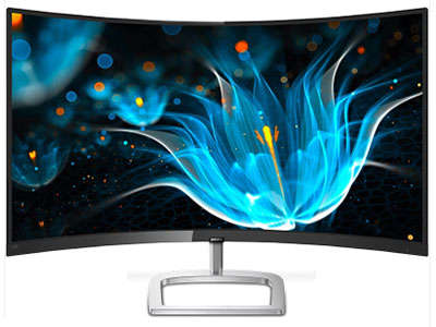 飞利浦 328E9FJSB(曲面/2K)  显示器 VGA,DP,HDMI,1800R曲面,精智2K,外置电源,镂空底座,AMD Freesync,VESA(102\%NTSC)(机内配线HDMI)