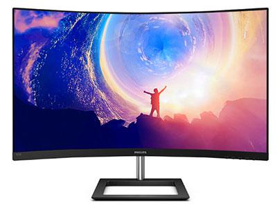 飞利浦 325E1C/CW 2K曲面  显示器 2K分辨率 VGA HDMI 音频输出 1500R 白色 支持壁挂