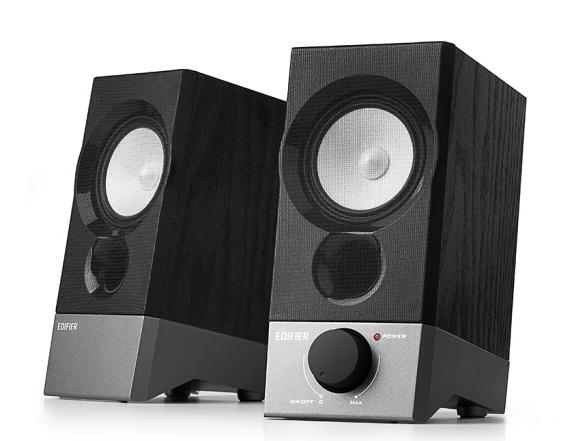 漫步者(EDIFIER)R19U 木质纯音2.0迷你桌面音响 电脑音箱