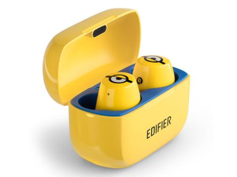 EDIFIER/漫步者 W3小黄人无线蓝牙耳机双耳真无线防水运动跑步超长待机超长续航