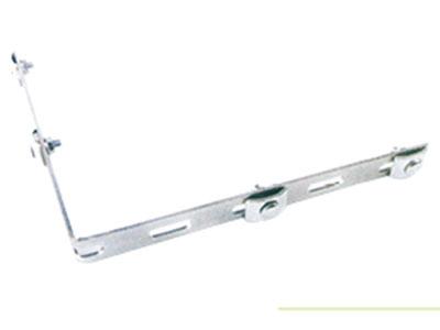 厚德纜勝  轉彎加強條 ◎ 用于:T型轉彎件、十字型連接的制作  ◎ 適合:3.5mm到6.0mm的絲徑  ◎ 包括:BAR×1、上卡扣×4、M6×20馬車螺栓×4、M6法蘭螺母×4  ◎ 特點:(1)有很高的連接強度;(2)固定方便