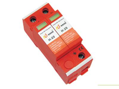 厚德纜勝  電源防雷器 ◇  厚德纜勝電涌保護器用于LPZ1區與LPZ2區界面電源線路防雷及抗浪涌保護,安裝在低壓配電系統的樓層分配電柜上,用于電 源設備第二、三級防雷保護。