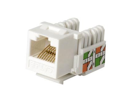 腾飞 镀金高速超五类电脑网线插座模块RJ45网络面板模块