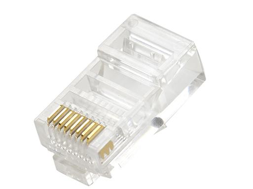腾飞水晶头rj45超五类8P芯三叉纯铜网线连接电脑网络接头