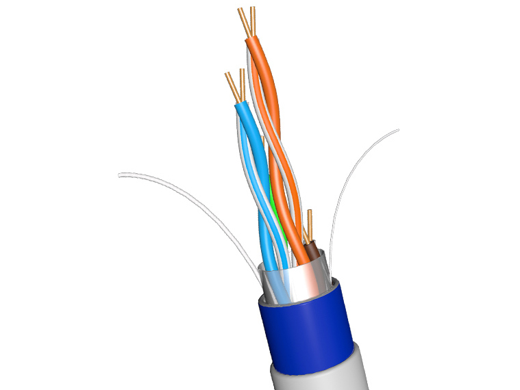 超五类无氧铜网线 电脑监控网络工程连接线电信级双绞线