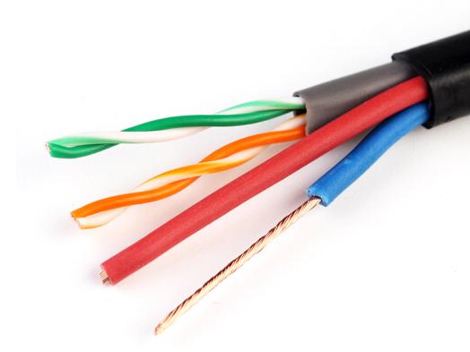 4芯网线带电源一体线